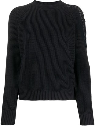 Pinko Ribbed Cut-Out Jumper