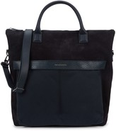 Want Les Essentiels O'hare Navy Suede And Canvas Tote