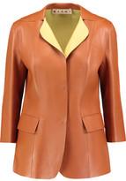 Marni Two-Tone Leather Blazer