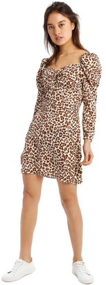 Missguided Animal Print Mini Dress