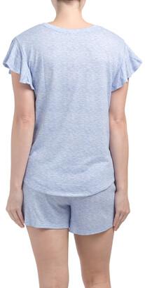 Flutter Sleeve Super Soft Shortie Pajama Set