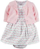 Carter's Baby Girls' 2-Pc. Cardigan & Geo-Print Dress Set
