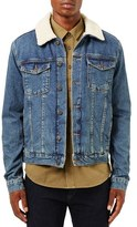 Topman Men's Borg Denim Jacket