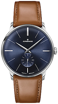 Junghans 027/3504.00 Meister Leather Strap Watch, Tan/navy