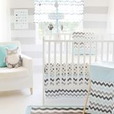 My Baby Sam Chevron Baby Crib Bedding Collection in Aqua/Grey