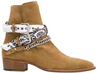 Amiri Camel Suede Boots