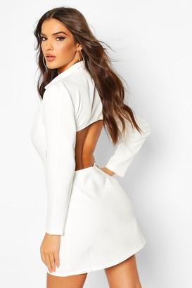 boohoo Open Back Blazer Dress