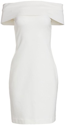 Rosetta Getty Banded Off-The-Shoulder Sheath Dress