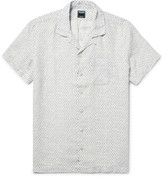 Todd Snyder Slim-Fit Camp-Collar Polka-Dot Slub-Linen Shirt