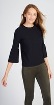 J.Mclaughlin Kyla Bell Sleeve Top in Radio Waves Jacquard