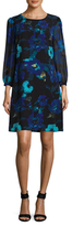 Karl Lagerfeld Chiffon Floral Shift Dress