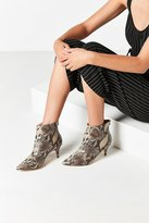Urban Outfitters Snakeskin Kitten Heel Ankle Boot