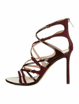 Jimmy Choo Livvy 100 Suede Sandals