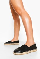 Thumbnail for your product : boohoo Closed Toe Canvas Espadrille