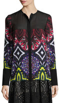 Just Cavalli Long-Sleeve Variant-Print Blouse
