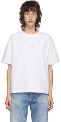 Acne Studios White Logo Print T-Shirt
