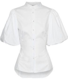 Adam Lippes Gathered Cotton-poplin Shirt