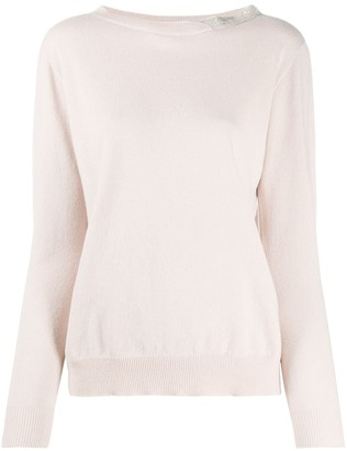 Fabiana Filippi Embellished Boat Neck Jumper