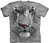 The Mountain Gray & White Tiger Face Tee - Unisex