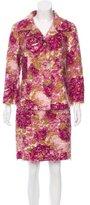 Dolce & Gabbana Floral Print Silk Skirt Suit