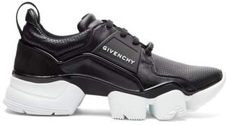 Givenchy Jaw Raised-sole Leather Trainers - Mens - Black