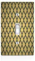 MWCustoms Gold & Grey Quatrefoil Pattern Art Light Switch Plate