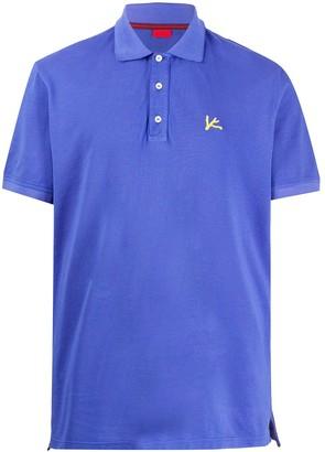 Isaia Logo Embroidered Polo Shirt