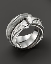 Roberto Coin Sterling Silver Hammered Wrap Ring