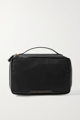 Anya Hindmarch Baby Emergency Kit Leather-trimmed Shell Pouch - Black