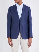 Armani Collezioni Checked single-breasted wool jacket
