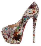 Christian Louboutin Painted Snakeskin Pumps