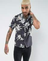 AllSaints Regular Fit Short Sleeve Shirt With Floral Print