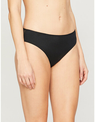 Chantelle Prime logo-print mid-rise stretch-jersey briefs