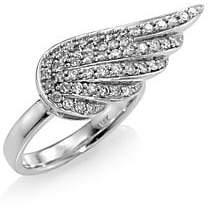 Sydney Evan Women's 14K White Gold Angel Wing Diamond Ring