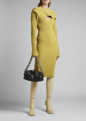 Bottega Veneta Long-Sleeve Ribbed Knit Sweater Dress