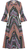 Temperley London Printed Cotton Midi Dress