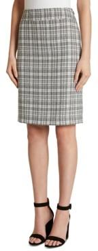 Tahari ASL Petite Plaid Print Pencil Skirt