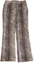 Ungaro White Wool Trousers for Women