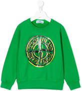 Stone Island Junior logo sweatshirt