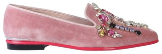 Alexander McQueen Embellished Pointed Toe Moccasins