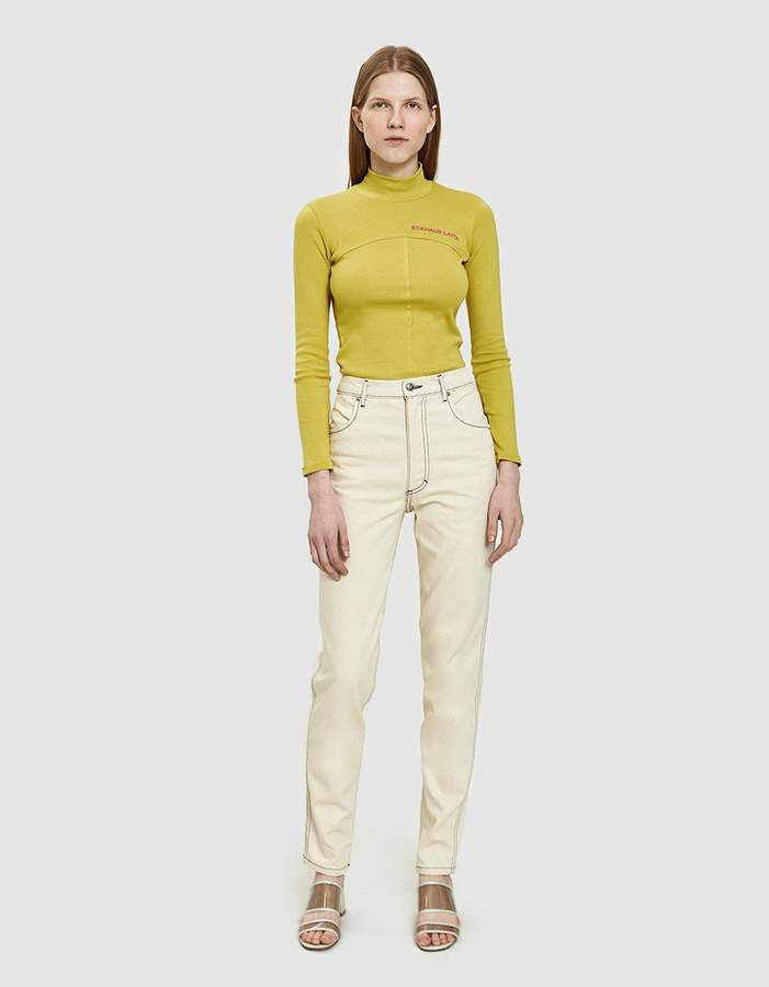 Eckhaus Latta El Straight Leg Jeans in Natural