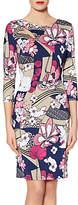 Gina Bacconi Rosanna Floral Print Dress, Pink/Multi