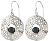 Bella Pearl Black Pearl & Sterling Silver Cutout Drop Earrings