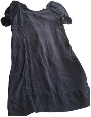 Maje \N Navy Silk Dresses