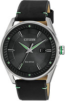 Citizen Men's Drive Black Leather Strap Watch 42mm BM6980-08E