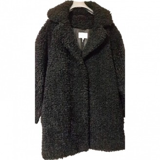 Sandro Black Faux fur Coats