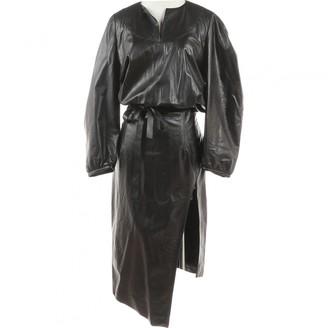 Off-White Black Leather Dresses