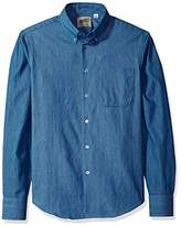 Naked & Famous Denim Men's Lightweight Faded Long Sleeve Button Down Shirt