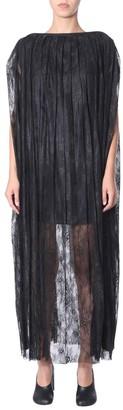 MM6 MAISON MARGIELA Lace Overlay Cape Dress