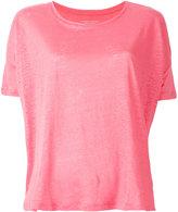 Majestic Filatures plain T-shirt - women - Linen/Flax - 1
